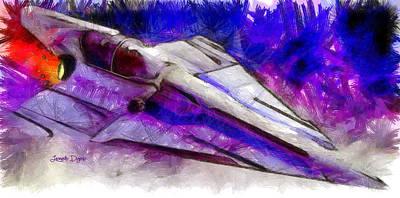 Fight Digital Art - Delta-12 Skysprite  - Pencil Style -  - Da by Leonardo Digenio