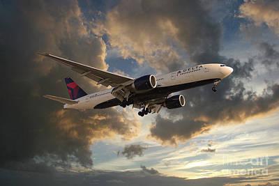 Best Sellers - Transportation Digital Art - Delta Air Lines Boeing 777-200LR by Airpower Art