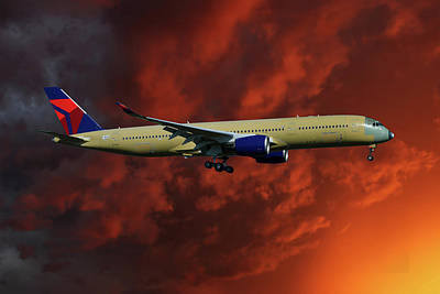 Delta Airlines Airbus A350-900 Art Print