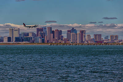Photograph - Delta Airlines Lands In Boston by Brian MacLean