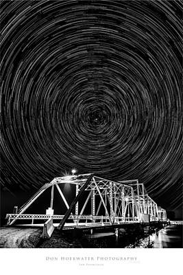 Photograph - Delta Bridge Star Trails by PhotoWorks By Don Hoekwater