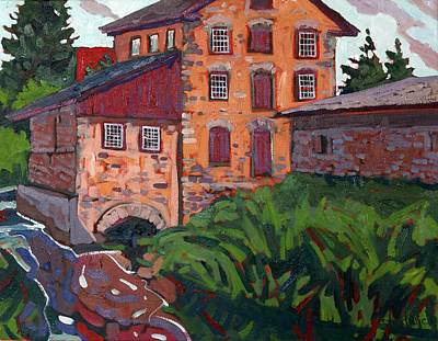 Grist Mill Painting - Delta Dawn by Phil Chadwick