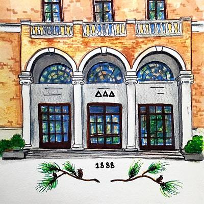 Tri Wall Art - Painting - Delta Delta Delta by Starr Weems