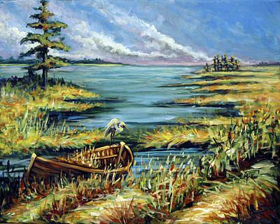 Painting - Delta Derelict by Suzanne McKee