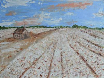 Cotton Gin Painting - Delta Gathering by DoraMichele Ferguson
