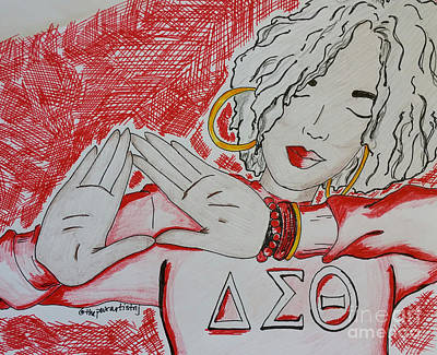 Drawing - Delta Lady by The Pour Artist NJ
