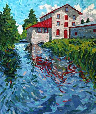 Grist Mill Painting - Delta Morning by Phil Chadwick