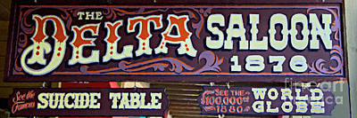 Western Mixed Media - Delta Saloon 1876 by David Millenheft