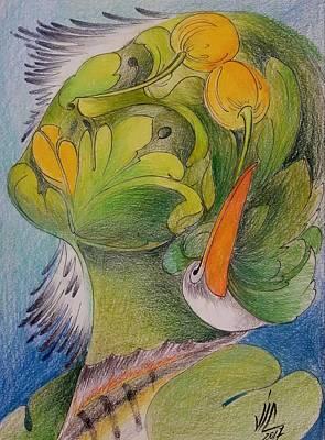 Painting - Delta-strength Trought Fragility-danube Delta 4 by Vali Irina Ciobanu