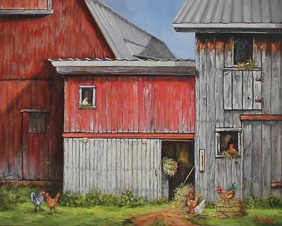 Painting - Deluxe Accommodations by Judy Bradley
