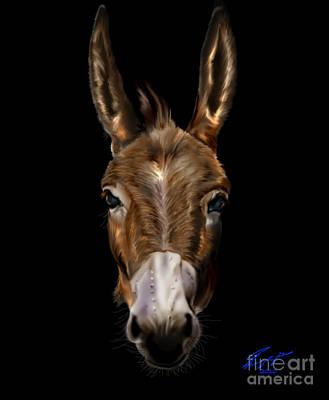 Democrat Painting - Dem-donkey by Reggie Duffie