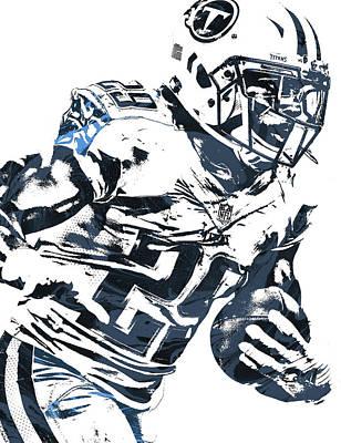 Art Print featuring the mixed media Demarco Murray Tennessee Titans Pixel Art 2 by Joe Hamilton