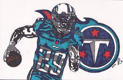 Drawing - Demarco Murray Titan by Jeremiah Colley