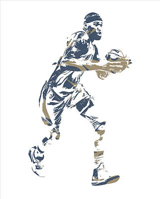 Pelican Mixed Media - Demarcus Cousins New Orleans Pelicans Pixel Art 20 by Joe Hamilton