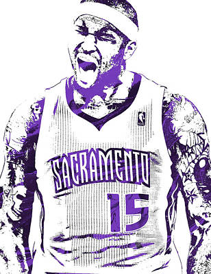 Free Mixed Media - Demarcus Cousins Sacramento Kings Pixel Art 2 by Joe Hamilton