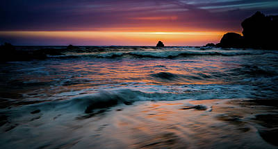 Photograph - Demartin Beach Sunset by TL Mair