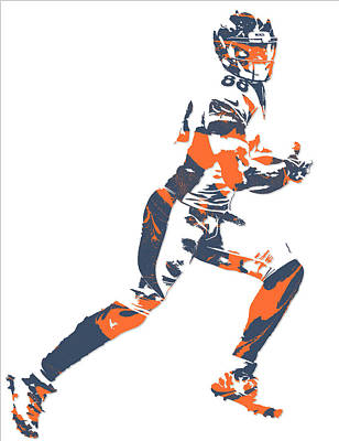 Mixed Media - Demaryius Thomas Denver Broncos Pixel Art 10 by Joe Hamilton