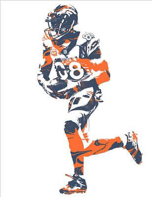 Football Mixed Media - Demaryius Thomas Denver Broncos Pixel Art 11 by Joe Hamilton