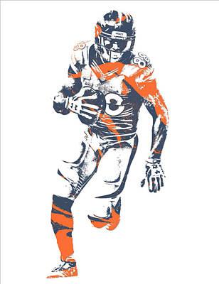 Demaryius Thomas Denver Broncos Pixel Art 15 Art Print