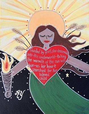Greek Icon Painting - Demeter by Angela Yarber