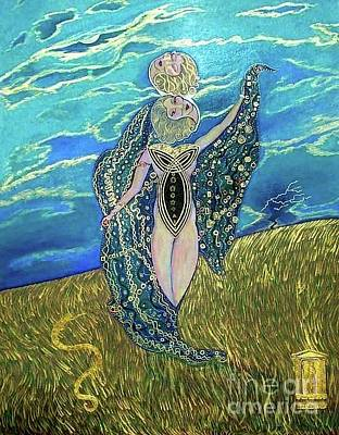 Painting - Demeter Goddess Of The Harvest by John Lyes