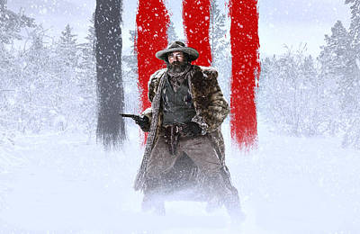 David Drawing - Demian Bichir The Hateful Eight by Movie Poster Prints