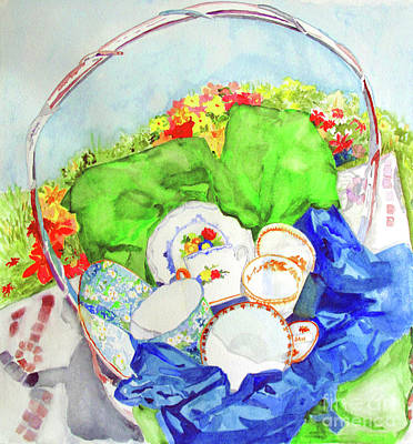 Painting - Demitasse Picnic by Sandy McIntire