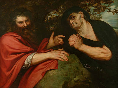 Peter Painting - Democritus And Heraclitus by Peter Paul Rubens