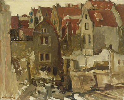 Demolition Of The Grand Bazar De La Bourse In Amsterdam At The Nieuwendijk Art Print by George Hendrik Breitner