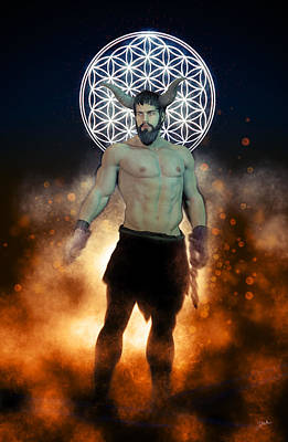 Human Beings Digital Art - Demon Asmodeus by Joaquin Abella