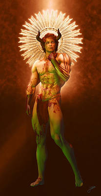 Human Beings Digital Art - Demon Bucon by Joaquin Abella