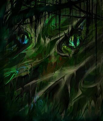 Spooks Digital Art - Demon by Rachel Christine Nowicki