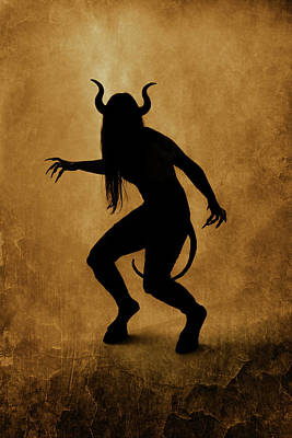 Demon Silhouette Art Print