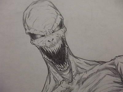 Demon Zombie Art Print by John Prestipino