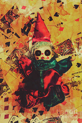 Clown Photograph - Demonic Possessed Joker Doll by Jorgo Photography - Wall Art Gallery