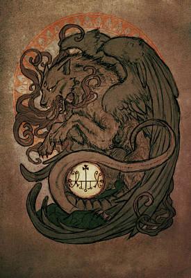 Beast Wall Art - Digital Art - Demons Of Goetia- Marchosias by Cambion Art