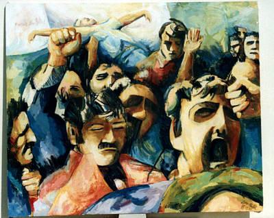 Demonstration - Art In Lebanon Art Print by Zaher Bizri