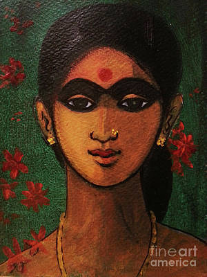 Painting - Demure by Asha Sudhaker Shenoy