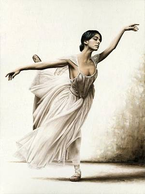 Athletic Painting - Demure Ballerina by Richard Young