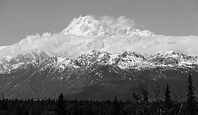 Denali Black And White Art Print