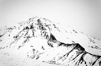 Photograph - Denali - Chiseled Mountain Bw by Mary Carol Story