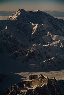 Photograph - Denali From The Air by Chris Multop