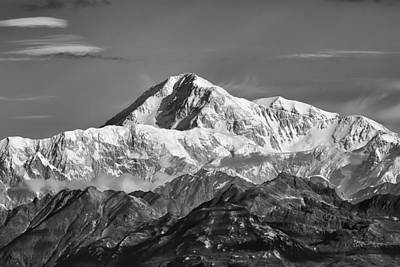Alaska Mountains Photograph - Denali Grey by Ed Boudreau
