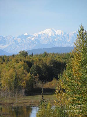 Denali In The Distance Art Print