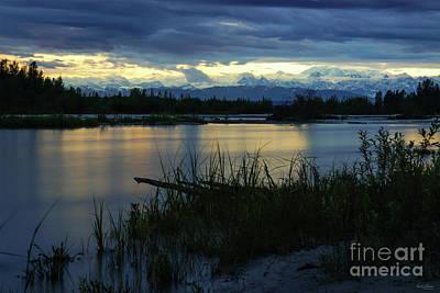 Photograph - Denali Midnight Sunset by Jennifer White