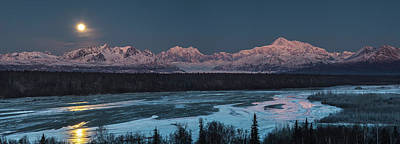 Landscapes Royalty-Free and Rights-Managed Images - Denali Morning Blue by Ed Boudreau