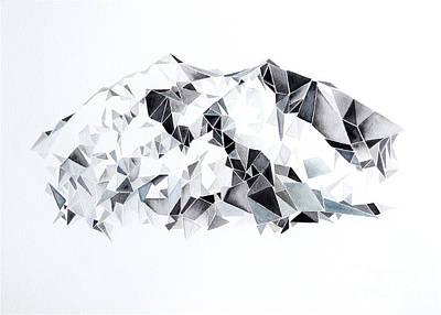 Denali Painting - Denali Mountain Low-poly by Willow Heath