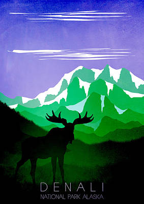Abstract Landscape Painting - Denali National Park 4 - By Diana Van by Diana Van
