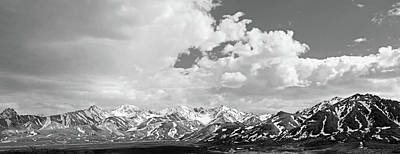 Denali National Park Black And White Art Print