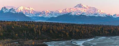Denali Sunrise Alpenglow Art Print